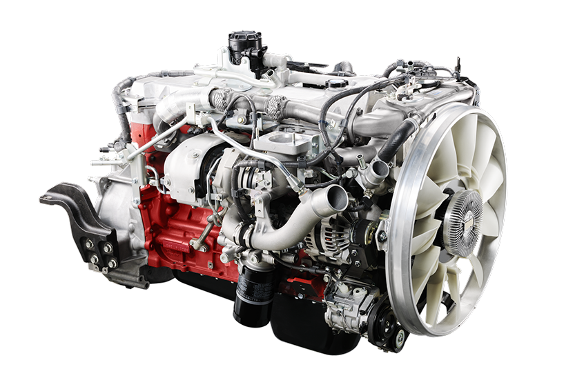 Turbocharged and intercooled Hino J08 VB engine - 260hp 660lb-ft torque